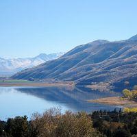 Topaz Lake from north hillside