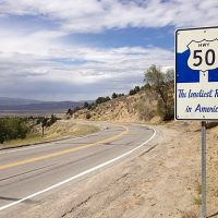 U.S. Highway 50 sign near Austin, NV