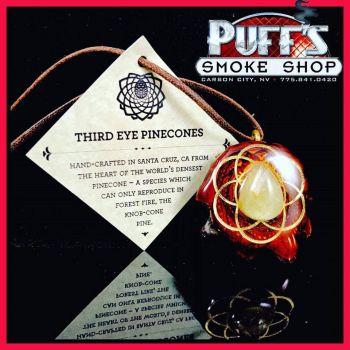 Puffs Smoke Shop Carson City, Third Eye Pine Cones Pendant