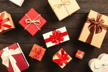 gift wrapped presents on a table