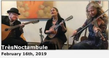 Brewery Arts Center, Celtic Music Series Presents TresNoctambule