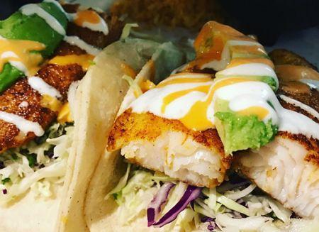 San Marcos Mexican Grill, Halibut Fish Tacos