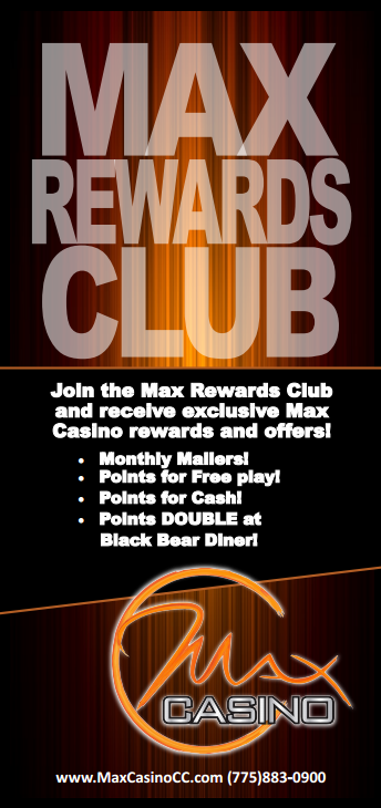 Max Casino, Join Max Rewards Club