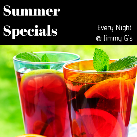 Jimmy G's Cigar Bar Carson City, Summer Specials
