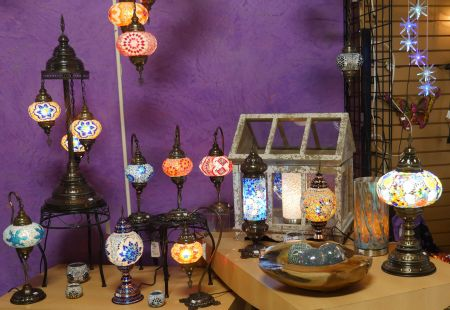 Crimson Moon Intuitive Arts, Handmade Turkish Lamps