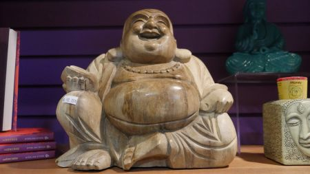 Crimson Moon Intuitive Arts, Wooden Buddha Statue